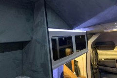 Summit Motorhomes Roof Pod internal with cupboards